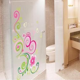 Wall Stickers Romantic Flower Australia - Colorful Romantic Flower Vine Wall Stickers Home Decor Bathroom Parlor Window Art Mural PVC DIY Valentine's Day Poster Wallpaper