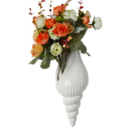 Ceramic Wall Vases UK - European Wall Flower Vase ceramic three-dimensional wall decorative artifact  sc 1 st  DHgate & Shop Ceramic Wall Vases UK | Ceramic Wall Vases free delivery to UK ...