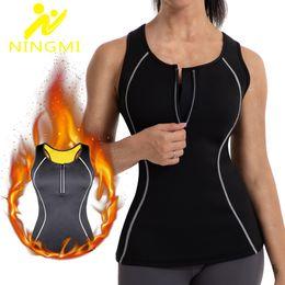 $enCountryForm.capitalKeyWord UK - NINGMI Neoprene Vest Slimming Waist Trainer Women Sport Shirt Weight Loss Body Shaper Tummy Strap Shapewear Tank Top with Zipper