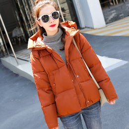 Cotton padded korean Coat online shopping - Parka Mujer Invierno Winter Women s Warm Cotton Padded Coat Hooded Short Snow Outerwear Korean Style Plain Jackets