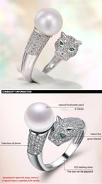925 China Pearls Australia - new Fashion Pearl Jewelry Leopard Pearl Ring Natural Freshwater Pearl 925 Sterling Silver Jewelry For Women Gift