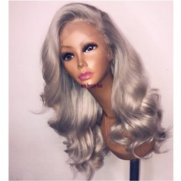 gray wigs for black women 2019 - Newstyle side part perruque short gray wig with baby hair 360 lace synthetic lace front wig heat Resistant with baby hai