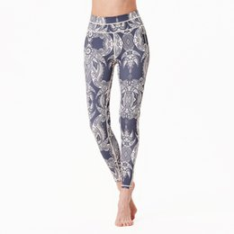 Womens Tight Yoga Pants UK - Womens Sports Yoga Pants Fitness Gym Workout Leggings Elastic Tights Running Training Riding Trousers Floral Print Skinny Pants Sweatpants