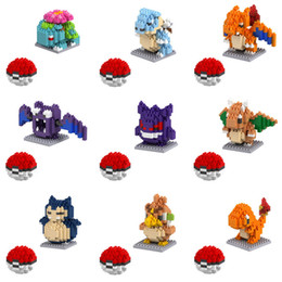 anime puzzles Australia - 24pcs Small particles blocks 20 Models Figures Diamond Elf Ball Building Blocks Toys Christmas Gifts Anime Puzzle crea tive po kemon elves