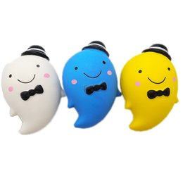 $enCountryForm.capitalKeyWord UK - Cheap price 14cm Squishy funny ghost Squishies Toys Kawaii Slow Rising Jumbo Squeeze Phone Charms Stress Reliever Kids Gift