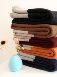 Wool Bedding Australia - BIG SALE Fast Shipping Best Quailty H wool Blanket Orange Black gray blue for Beds Sofa Plaid Fabric Fleece Portable Air Conditioning Travel