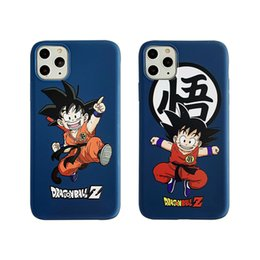 z iphone Canada - Fashion Desinger Phone Case for iPhone 11 11pro 7 8 Plus X XS Max XR Soft Silicone Cute Dragon Ball Z Super Son Goku DBZ Cover
