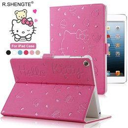 Ipad Tablet Stands NZ - MOQ 1PCS For New iPad 9.7 2018 2017 Case - Hello Kitty Smart Stand Cover for iPad 5th 6th Generation 9.7 inch Tablet Shell Skin