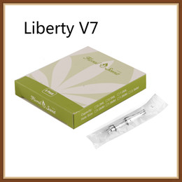 Chinese  Authentic iTsuwa Liberty V7 Tank 0.5ml 1.6ohm Dual ceramic coil Amigo liberty V7 ceramic coil Glass tank Thick Oil CE3 100% Original manufacturers