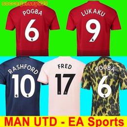 81a08e060 FC Manchester united Alexis sanchez POGBA soccer jersey 2018 2019 LUKAKU  RASHFORD football shirt jerseys MAN UTD 18 19 uniforms EA sports