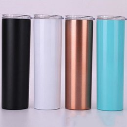 wholesale cups lids straws 2020 - 15OZ Stainless Steel Cup Tumbler with Lid and Reusable Straw Travel Water Bottles Outdoor sport water Bottle CFYZ42 disc