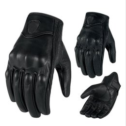 $enCountryForm.capitalKeyWord Australia - Motorcycle Gloves Touch Screen Goatskin Leather Real Genuine Cycling All Season Moto Glove Men Racing Motorbike Guantes Luvas