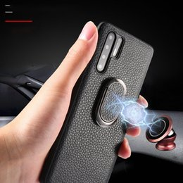 huawei cars NZ - Crocodile Texture Phone cases For Huawei P30 Mate20 Pro P20 Lite Car Holder Leather Cover Magnetic Suction Ring Bracket fundas
