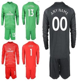 18 19 Soccer Goalkeeper 1 Petr Cech Jersey Set Men 13 David Ospina 19 Bernd  Leno Football Shirt Kit Custom Name Number ba1a64465