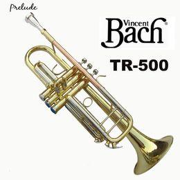 $enCountryForm.capitalKeyWord Australia - Vincent Bach Professional Bb Trumpet TR-500 Gold Lacquer Musical Instrument Professional Trumpet TR500 With Case Mouthpiece