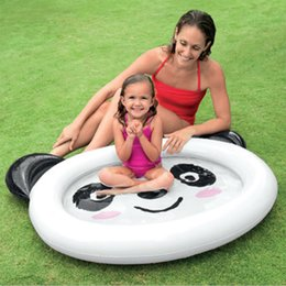 inflatable baby pool Australia - Baby cartoon circle panda Inflatable swimming pool children water fun pools Ocean Ball Pool inflatable baby toys