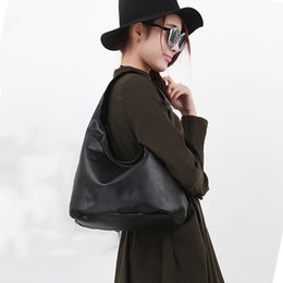 Popular Hand Bags NZ - 2019 New Women Pu Leather Handbag Shoulder Bag Hand Bags Ladies Fashion Large Capacity Solid Black Tote Popular Agd Fab