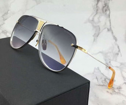 TiTanium semi frame glasses online shopping - Luxury Special Edition Anniversary Sunglasses Silver Gold Grey Gradient Lens Luxury Designer Sunglasses glasses with box