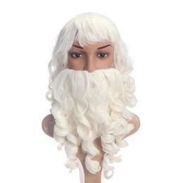Christmas Ornament Costumes Australia - Santa Claus Beard And Wig Set Costume Santa Beard And Wig For Christmas