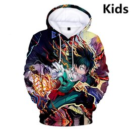 Skull clotheS kidS girlS online shopping - My Hero Academia D Print Boys Girls Hoodies Teens Outerwear Kids Hoodie Sweatshirt Clothes Children Long Sleeve Pullover SH190914