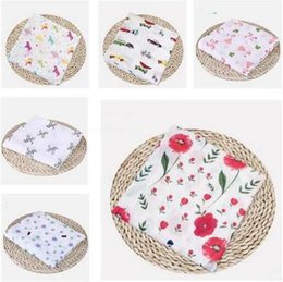 Summer Infant Muslin Australia - Baby Blankets Cotton Flamingo Rose fruits Print Muslin Baby Blankets Bedding Infant Swaddle Towel For Newborns Swaddle Blanket Free Shipping