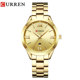 $enCountryForm.capitalKeyWord NZ - Curren Reloj Mujer Women Watches Rose Gold Luxury Quartz Ladies Watch Fashion Brand Women Clock Wrist Watches For Women Hot Sell Y19062402