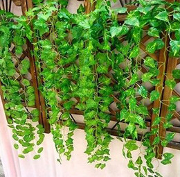 $enCountryForm.capitalKeyWord NZ - 240 cm Artificial Ivy Leaf Garland Plants Plastic green long Vine Fake Foliage flower Home decor Wedding decoration
