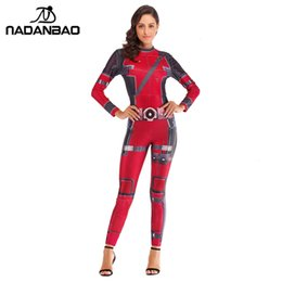 super woman cosplay Australia - NADANBAO Super Hero Deadpool Costume Cosplay Anime Bodysuit Halloween Costumes For Women Plus Size JumpsuitMX190921