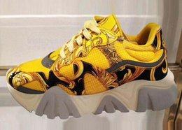 $enCountryForm.capitalKeyWord Australia - Latest Chain Reaction 19FW men sneakers mesh stitching leather casual shoes luxury designer men Squalo platform sports logo casual shoes T2
