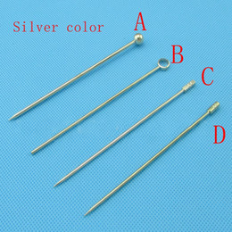 Metal toothpick online shopping - 20pcs silver color Stainless steel cocktail wine needle sign Pick Multi functional fruit toothpick fork Bar bartending tool
