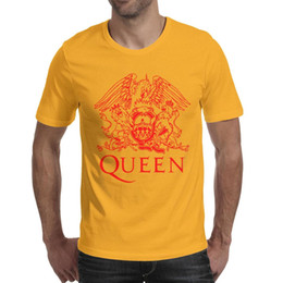 Vintage Band T Shirts Australia - Queen Band Logo red Man Tops Tees Designed Hunting Cotton O Neck Shirts Best Man T Shirt Vintage T Shirts for Man