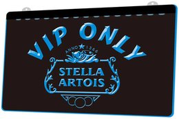 Stella light online shopping - LS1238 b VIP Only Stella Artois Beer Neon Light Sign jpg Decor Dropshipping colors to choose