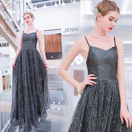 $enCountryForm.capitalKeyWord Australia - Sequined Evening Dresses 2019 New Elegant Spaghetti Strap Sweetheart Neck Formal Party Long Backless Prom Gowns robe de soiree