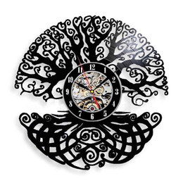$enCountryForm.capitalKeyWord UK - Tree New 12 inch Vinyl Record Wall Clock Round Black Wall Clock Creative Clock Modern Home Decor Simple Living Room Decoration Best Gift