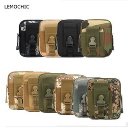 military messenger bags women NZ - LEMOCHIC new military phone waist pack men tactical hunting molle outdoor travel belt bags army equipment fanny pack for women #359512