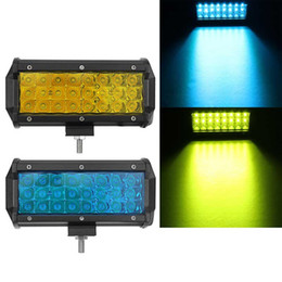 spot lights for cars Canada - 1pcs 7 Inch 144W 24 LED Work Light Bar Spot Beam Car Driving Lamp for Off Road SUV Truck - Yellow