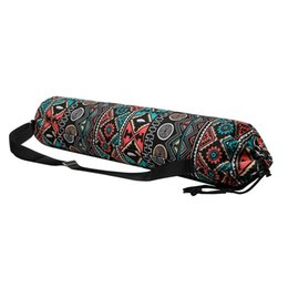 Wholesale Yoga Mat Storage Bag Printed Zipper Drawstring Bags Carrier Organization Tool With Straps For Fitness Body Building