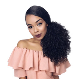 $enCountryForm.capitalKeyWord Australia - Drawstring Afro Puff Kinky Curly Ponytail Synthetic Hair Bun Chignon Hairpiece For Women Updo Clip in Hair Extension