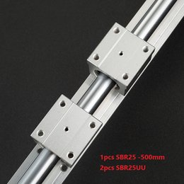$enCountryForm.capitalKeyWord Australia - 1pcs SBR25-500mm support rail linear guide + 2pcs SBR25UU linear bearing blocks for cnc router