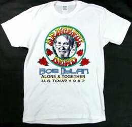 Silver Bobs Australia - NEW RARE Grateful Dead and Bob Dylan Summer Tour July 1987 t shirt Design new
