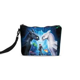 Train Cosmetic Bags NZ - Cosmetic Bags For Women Fashion How To Train Your Dragon 3D Printing Canvas Makeup Bags Cosmetic Box Toiletry Case Clutch Tote