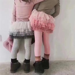 $enCountryForm.capitalKeyWord NZ - Autumn Girls Leggings Kids Tutu Skirt Leggings Spring Lace Skirt Pants Children Casual Trousers 5pcs lot