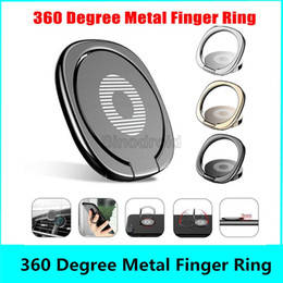 mobile selling stand 2021 - Hot sell Luxury 360 Degree Metal Finger Ring Holder Smartphone Mobile Phone Finger Stand Holder For iPhone X XR MAX Tablet with Package