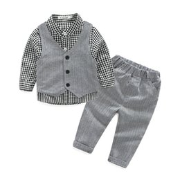 Style for Shirt pant online shopping - Kids Gentleman Baby Boy Clothes Long Sleeve Shirt Vest Casual Pants For Wedding And Party Newborn Baby Clothes Months