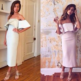 turkish party dresses UK - Cheap Simple Corset Evening Dresses With Capes Sexy Prom Tea length turkish satin Formal Party Gowns 2019 Beautiful Evening Night cocktail