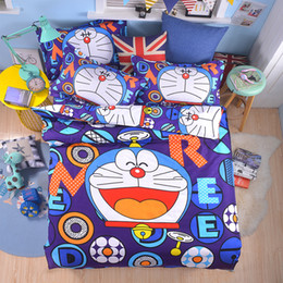 b89917c20515a New 3D Doraemon Hello Kitty Cartoon Bedding Set Include Duvet Cover Bed  Sheet Pillowcases Kids Soft Bed Linen Twin Full