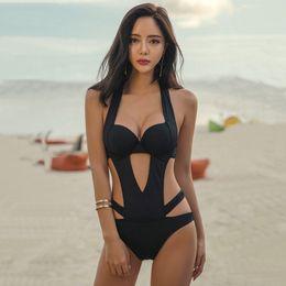 $enCountryForm.capitalKeyWord Australia - Fashion-Beach Bikini Swim Wear Bathing Suits Lady Swimming Monokini Bodysuits Women Beachwear One Piece Swimsuit Push up Padded Swimwear