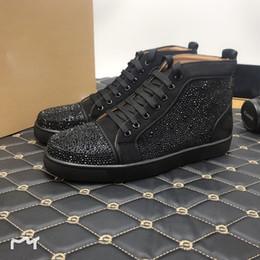 Scarpe da designer Spike Red Bottom Sneakers in pelle Junior Calf Casual Scarpe fannullone in pelle scamosciata Luxury Mens donna taglia con sacchetto di polvere di scatola in Offerta