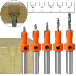 Ingrosso 1Pc 8MM Shank HSS Countersink Drill lavorazione del legno Foratura capo per la punzonatura di legno della vite estrattore Cutter svasato DrillTool