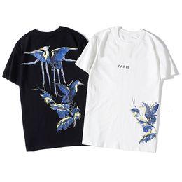 Wholesale animal print t shirt women for sale – custom 2020 T Shirt Hip Hop Fashion Bird Printing Mens T Shirt Short Sleeve High Quality Men Women T Shirt Polo Size S XXL